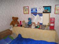 bed bedroom clock scuba teddies // 1024x768 // 177.5KB