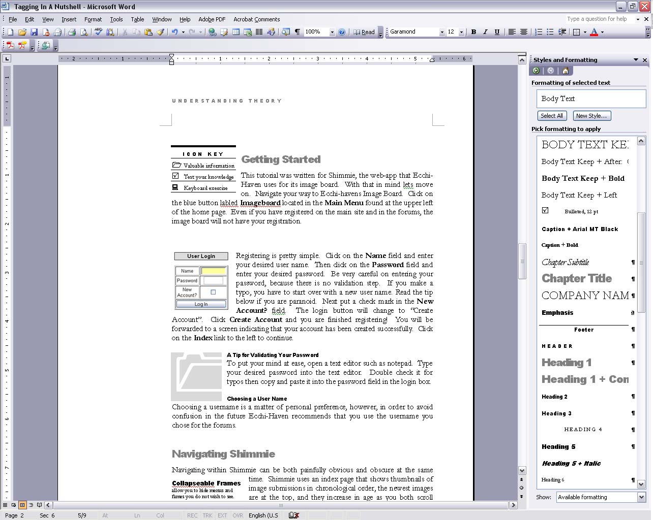 Introduction To Microsoft Word (Tables, Hyperlinks, Html File)